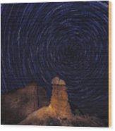 Stars Trails Wood Print