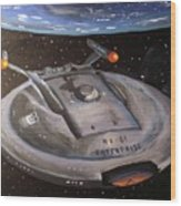 Starship Enterprise Wood Print