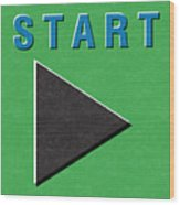 Start Button Wood Print