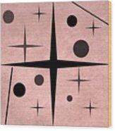 Starts And Dots Wood Print