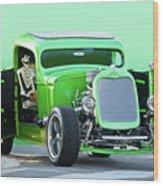 'starv'n Marvin' Hot Rod Pickup Wood Print