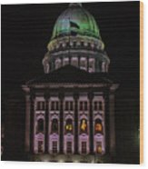 State Capitol Madison Wi Wood Print