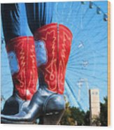 State Fair Of Texas Icons Wood Print