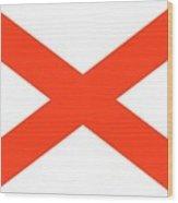 State Flag Of Alabama Wood Print