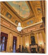 State House Christmas Wood Print