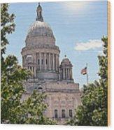 State House Wood Print