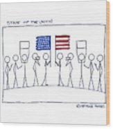 State Of The Union Wood Print