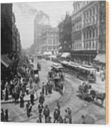 State Street - Chicago Illinois - C 1893 Wood Print