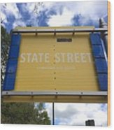 State Street Wood Print