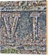 Station 6 Faded - San Juan Capistrano Wood Print