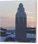 Helsinki Station At Sunrise Wood Print