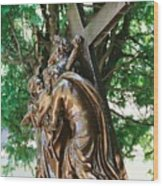 Station Of The Cross Wood Print