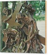 Station Of The Cross II Wood Print