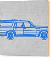 Station Wagon Wood Print by Naxart Studio