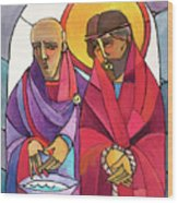Stations Of The Cross - 01 Jesus Is Condemned To Death - Mmjcd Wood Print