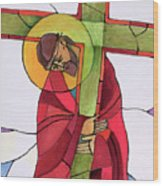 Stations Of The Cross - 02 Jesus Accepts The Cross - Mmjcs Wood Print