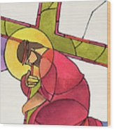 Stations Of The Cross - 03 Jesus Falls The First Time - Mmjff Wood Print