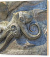Statue Details Wood Print