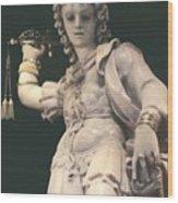 Statue Michael Wood Print
