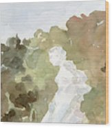 Statue Of A Woman Watercolor Paintings Of France Wood Print
