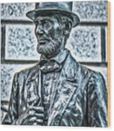 Statue Of Abraham Lincoln #7 Wood Print