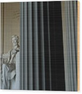 Statue Of Abraham Lincoln Is Seen Wood Print