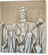 Statue Of Abraham Lincoln - Lincoln Memorial #3 Wood Print
