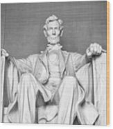 Statue Of Abraham Lincoln - Lincoln Memorial #4 Wood Print