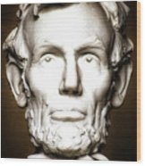 Statue Of Abraham Lincoln - Lincoln Memorial #5 Wood Print