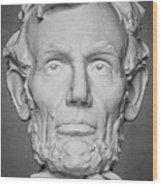 Statue Of Abraham Lincoln - Lincoln Memorial #6 Wood Print
