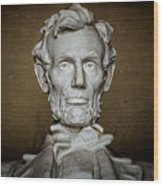 Statue Of Abraham Lincoln - Lincoln Memorial #7 Wood Print