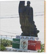 Statue Of Benito Pablo Juarez Garcia  Wood Print