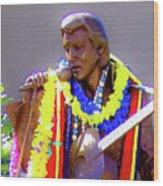 Statue Of, Elvis Presley - Honolulu, Hawaii - 565 C Wood Print
