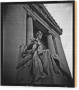 Statue Of Justice At The Courthouse In Memphis Tennessee Wood Print