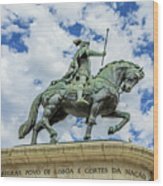 Statue Of King John I Lisbon Wood Print