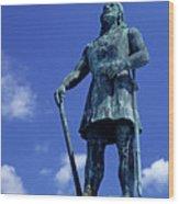 Statue Of Leif Ericksson  Wood Print