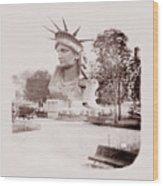 Statue Of Liberty 1883 Wood Print