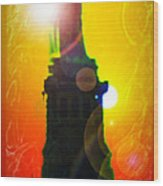Statue Of Liberty 7 Wood Print