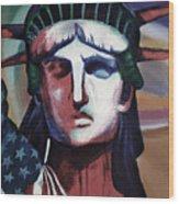 Statue Of Liberty Hb5t Wood Print