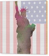 Statue Of Liberty Wood Print
