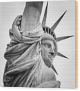 Statue Of Liberty, Lateral Portrait Wood Print