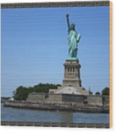 Statue Of Liberty New York America July 2015 Photo By Navinjoshi At Fineartamerica.com  Island Landm Wood Print