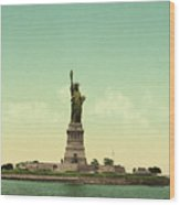 Statue Of Liberty, New York Harbor Wood Print