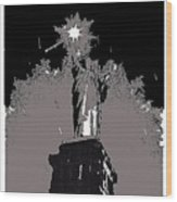 Statue Of Liberty Power Outage 1942-2014 Wood Print