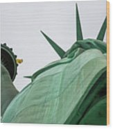 Statue Of Liberty, Torch And Crown Wood Print