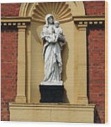 Statue Of Mother And Child Wood Print