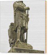 Statue Of Robert The Bruce Stirling Castle Wood Print