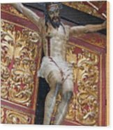 Statue Of The Crucifixion Inside The Catedral De Cordoba Wood Print