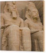 Statues At Abu Simbel Wood Print