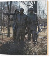 Statues Of War Wood Print